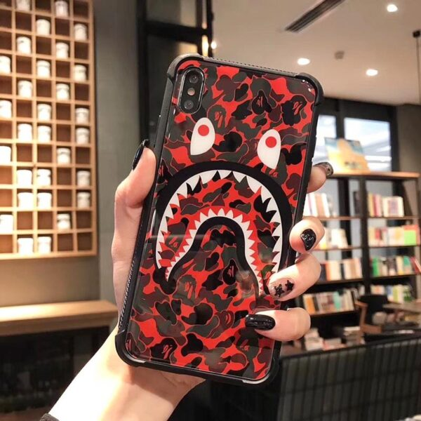Camouflage Shark Mouth iPhone Case