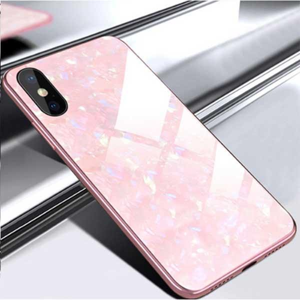 Hard iPhone Marble Case Tempered Glass